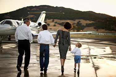 private aircraft charter with family