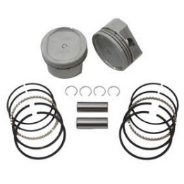 harley davidson motorcycle Sportster dish top pistons, piston rings, pins and lock rings