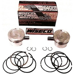 harley davidson motorcycle Sportster Wiseco reverse dome pistons, piston rings, pins and lock rings