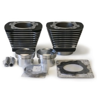 Revolution performance Nikasil black finish 1250cc cylinders with high compression pistons and gaskets for Harley Davidson Evolution Sportster