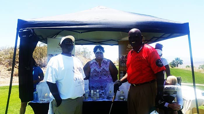 Team Oilmi with one of the greats Lawrence Taylor
