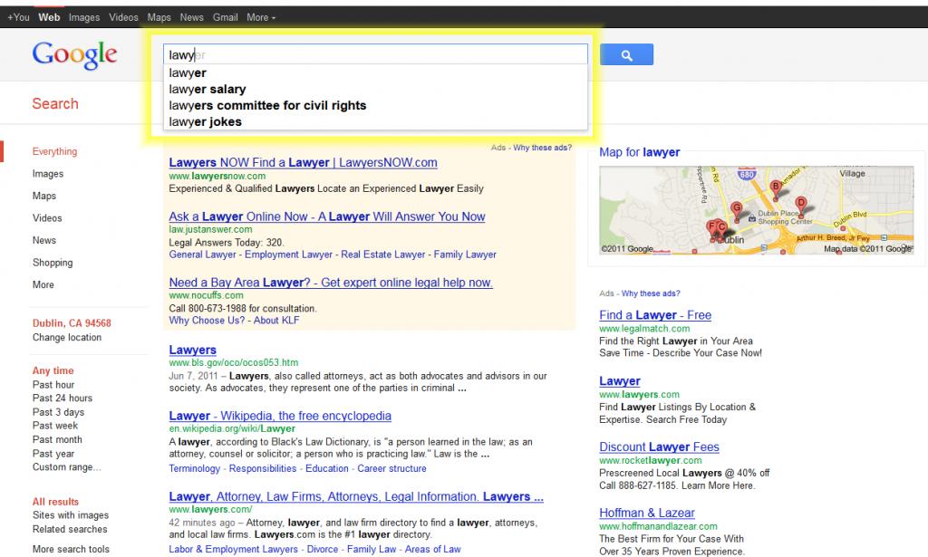 googlew serp