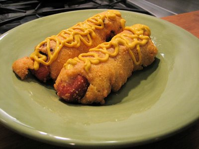 Bacon Wrapped Corn Dogs