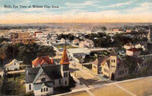 old postcard of webster city