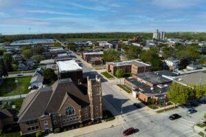 aerial image of webster city