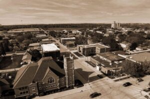 Aerial view of Webster City