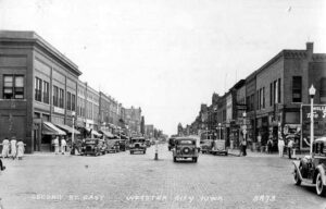 Old image of downtown Webster City