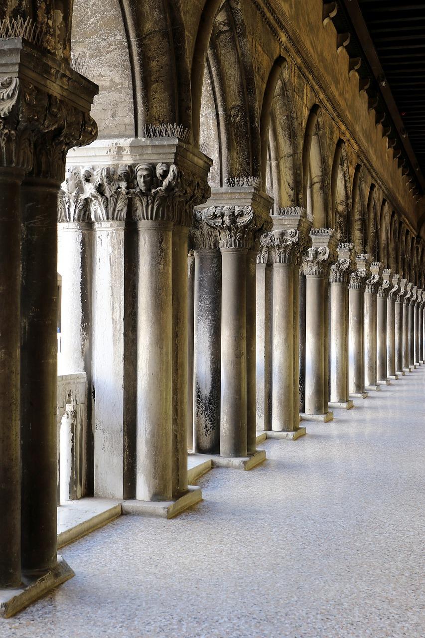 corridor, columns, particular