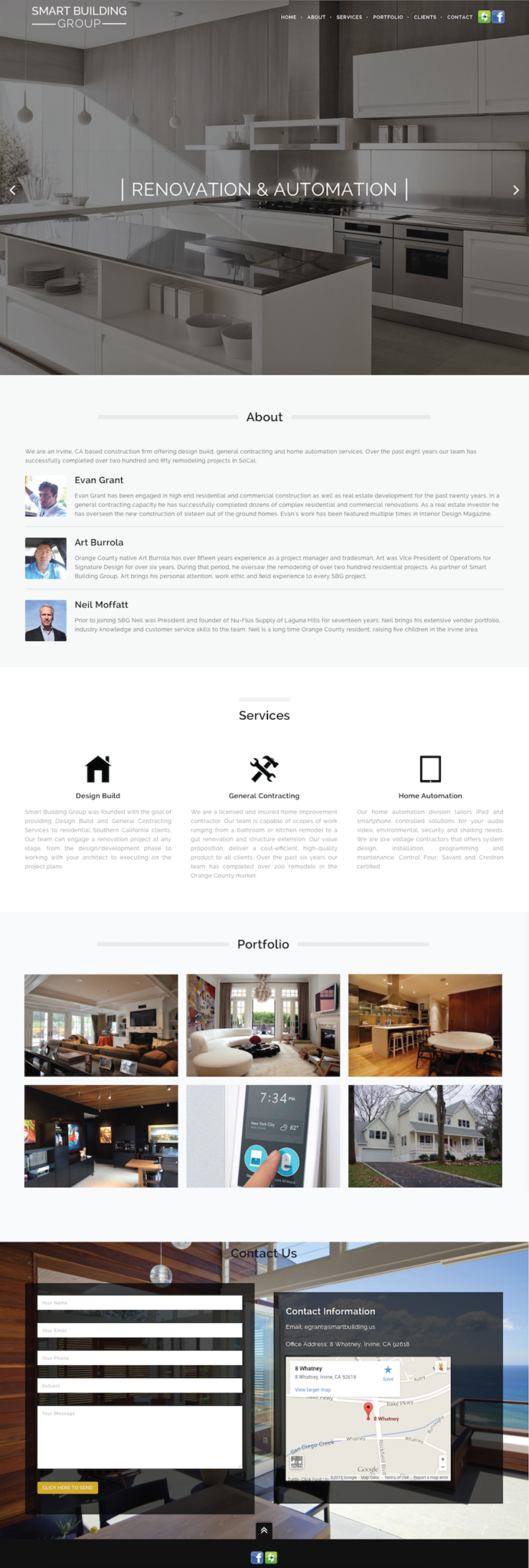 One Page Responsive Website Design