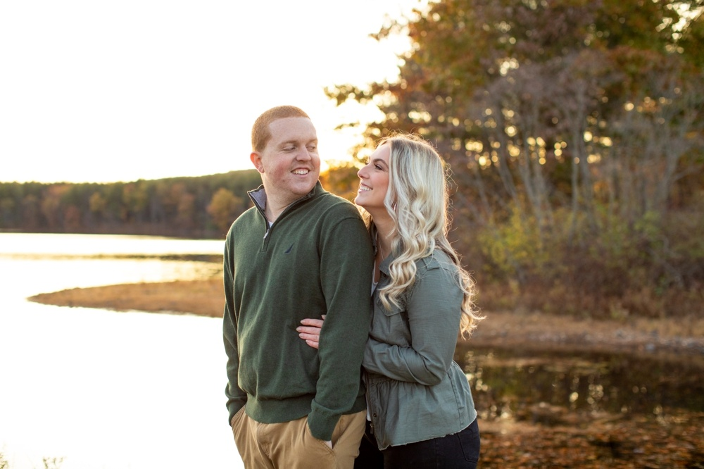 Ashley Reservoir engagement session with Casey and Brett