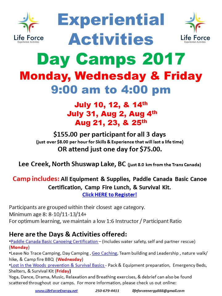 2017 Experiential Summer Day Camp(s)