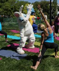 Yoga with the Easter Bunny