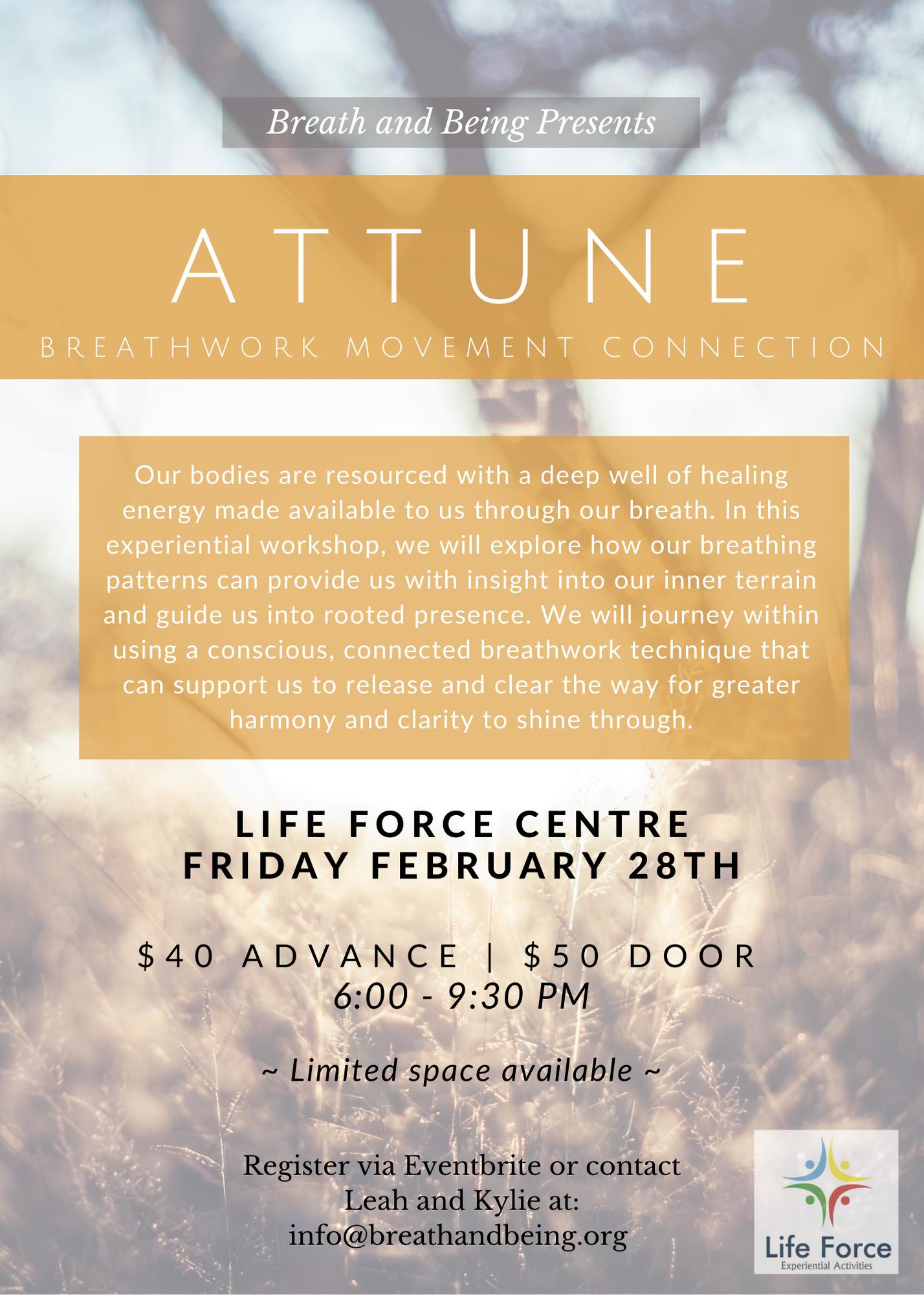 Attune – Feb 28, 2020 – Breath Work Movement Connection