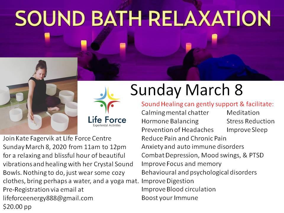 SOUND BATH SUNDAY MARCH 8, 2020