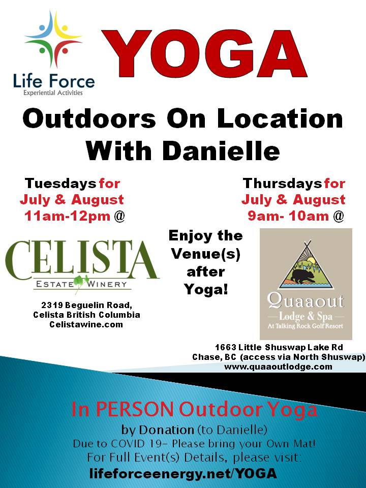 Outdoor Yoga on LOCATION Summer 2020