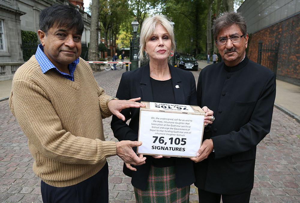 Nitin Mehta Speaks at CIWF Protest Against Gadhimai Festival At NepaleseEmbassy