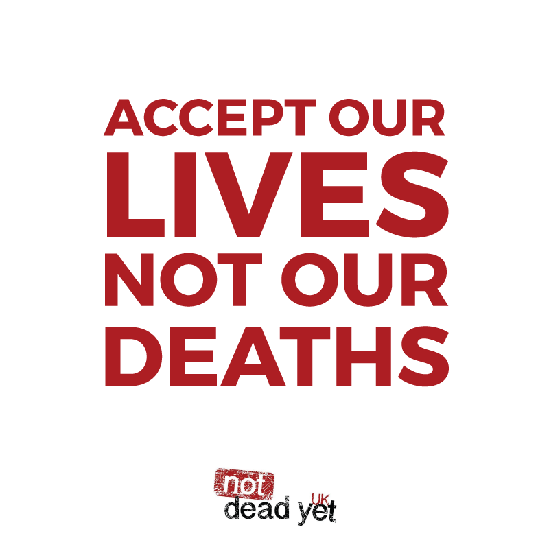 ACCEPT OUR LIVES, NOT OUR DEATHS