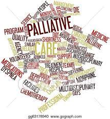 Lots of words all jumbled up with Palliative Care standing out.
