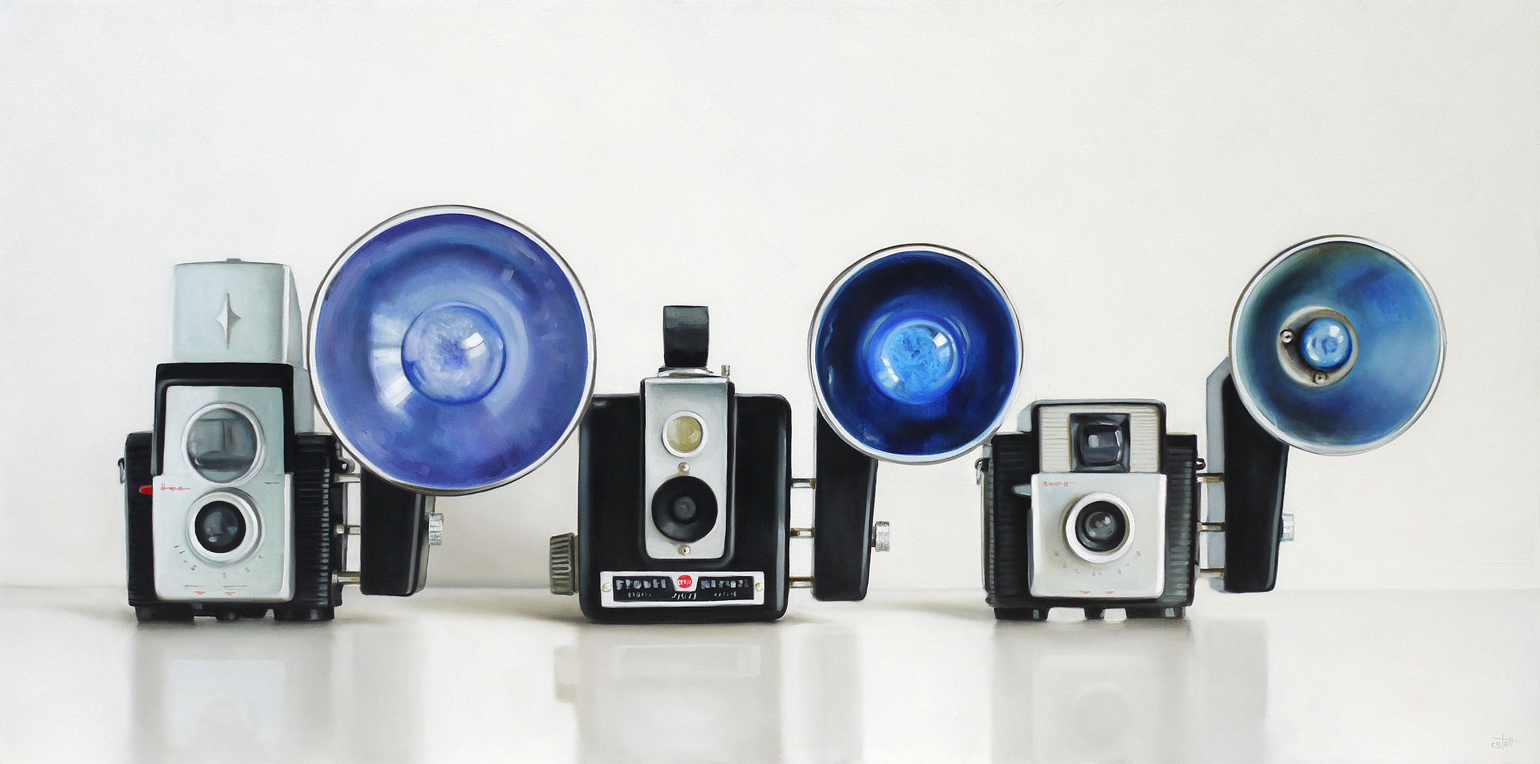 Three Kodaks / 18 x 36  / Oil on Canvas