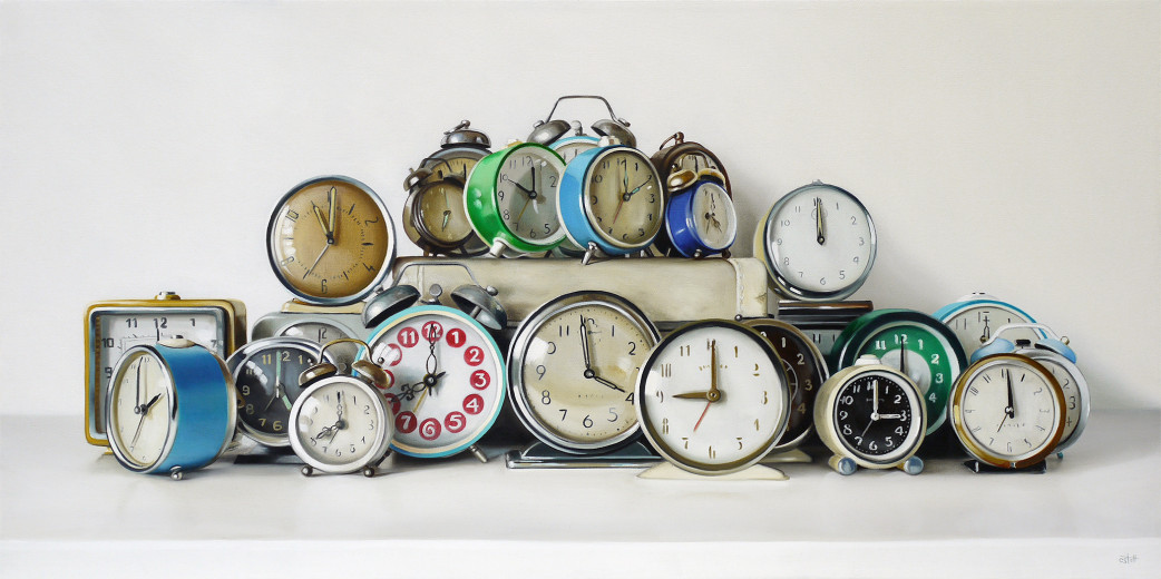Oil Painting All The Hours in a Day by Christopher Stott