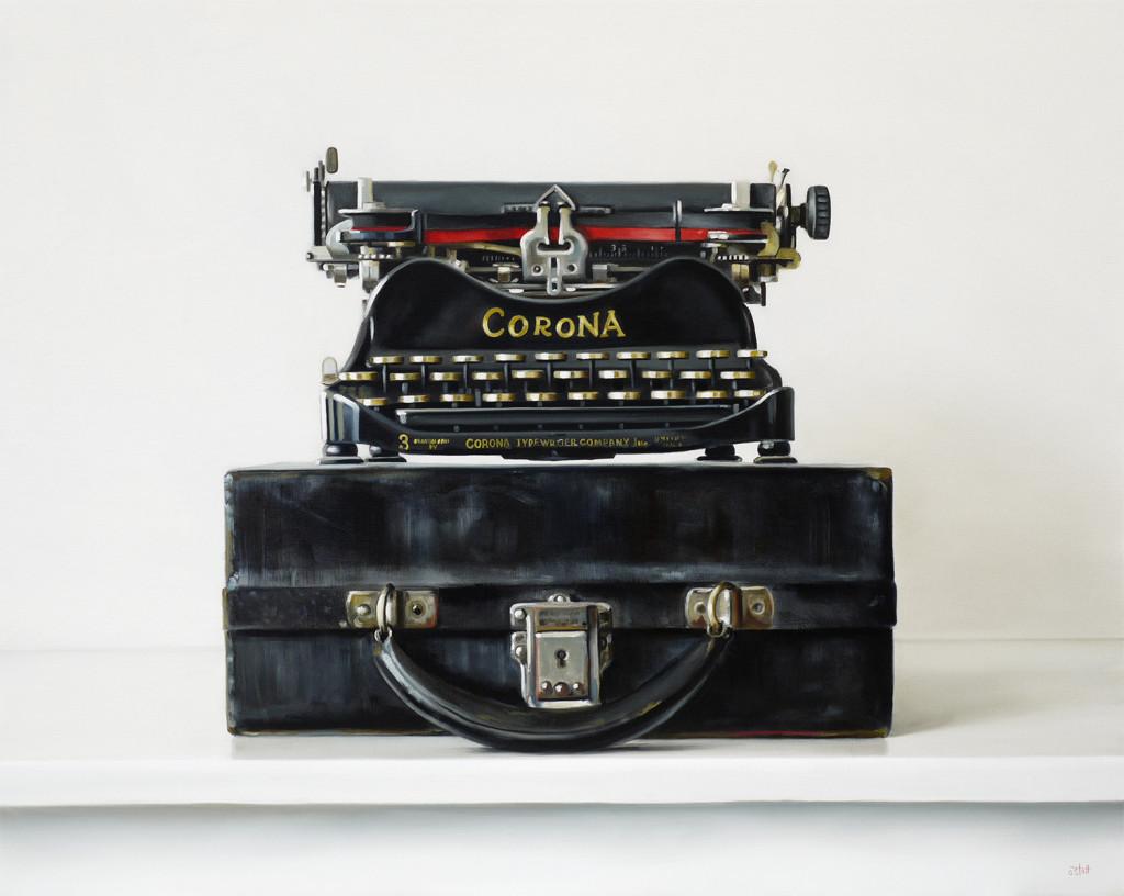 Corona No.3 Typewriter painting by Christopher Stott