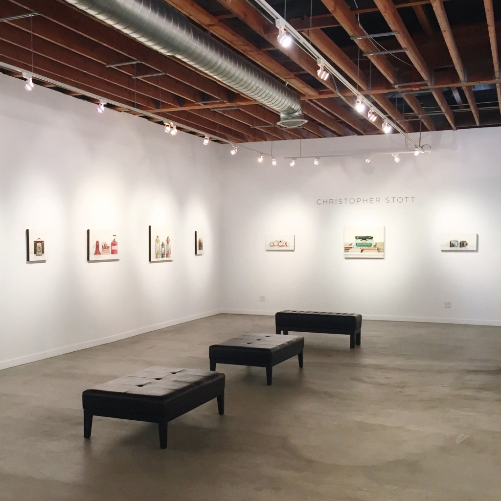 Christopher Stott paintings at the Elliott Fouts Gallery