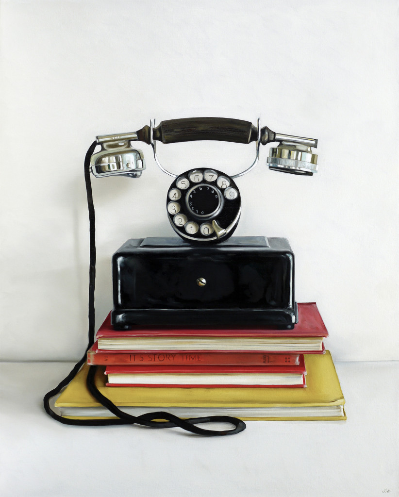 Christopher Stott Painting / Western Electric Co. Rotary Phone / 30 x 24