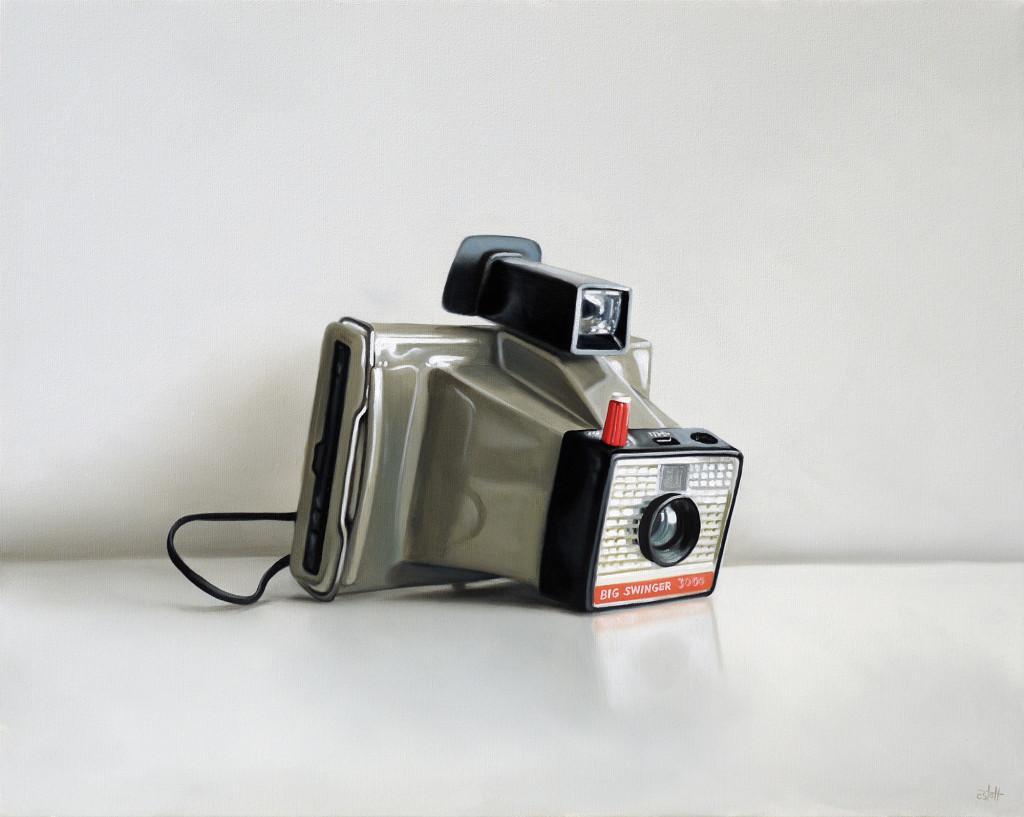 Polaroid Big Swinger 3000 oil painting by Christopher Stott