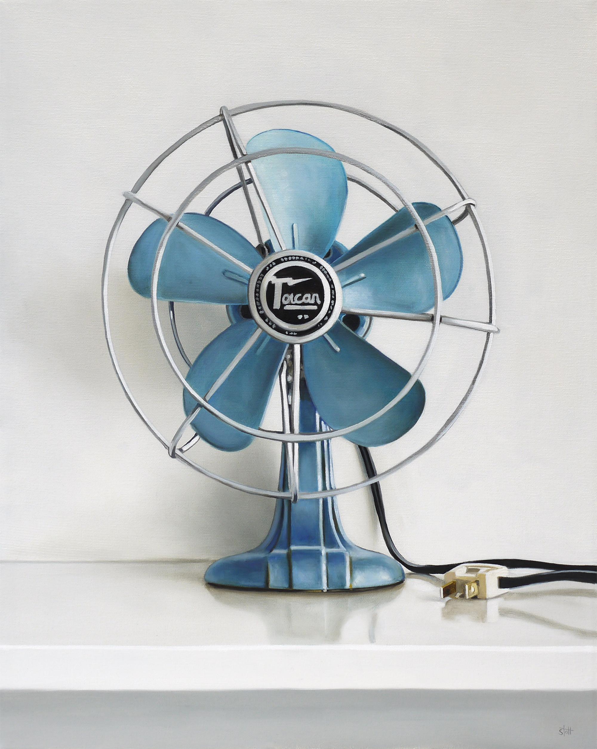 Vintage Toucan Electric Fan by Christopher Stott
