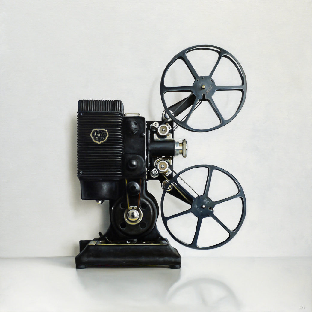 Amaro 16MM Film Projector Oil Painting by Christopher Stott