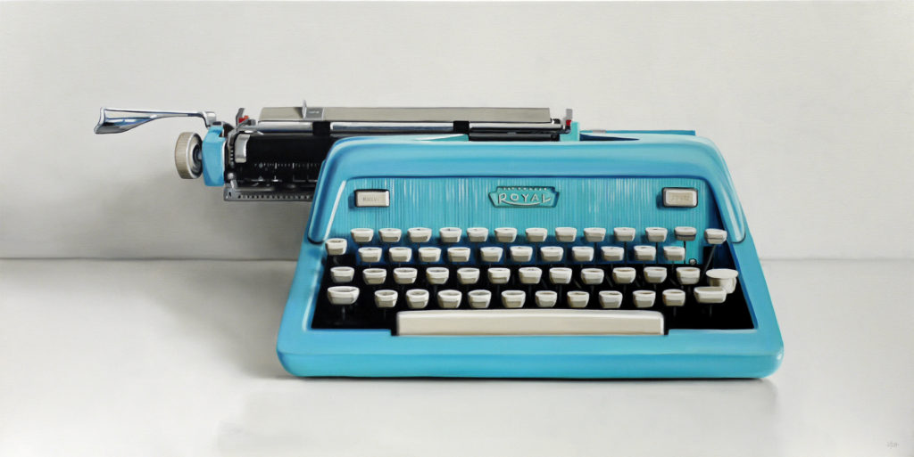 Royal Typewriter Oil Painting by Christopher Stott