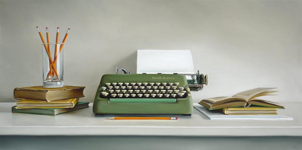 Smith-Corona Typewriter Painting by Christopher Stott