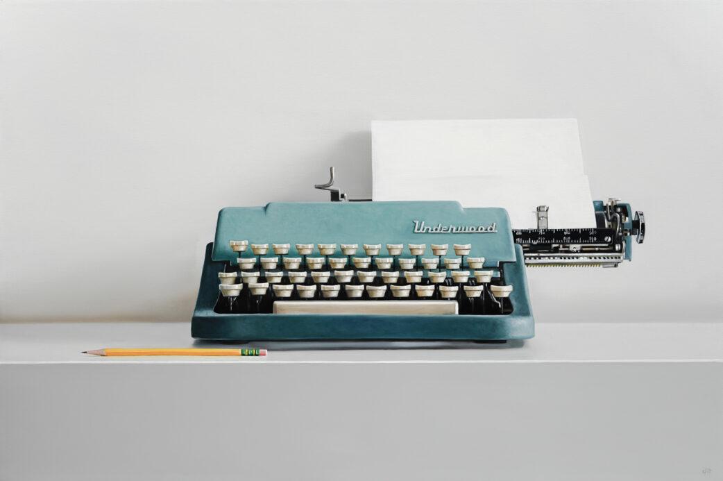 Underwood Leader Typewriter painting by Christopher Stott