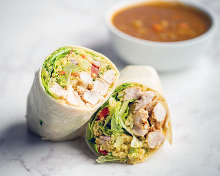 Chicken Quiona Wrap - TwinBridges Restaurant and Catering