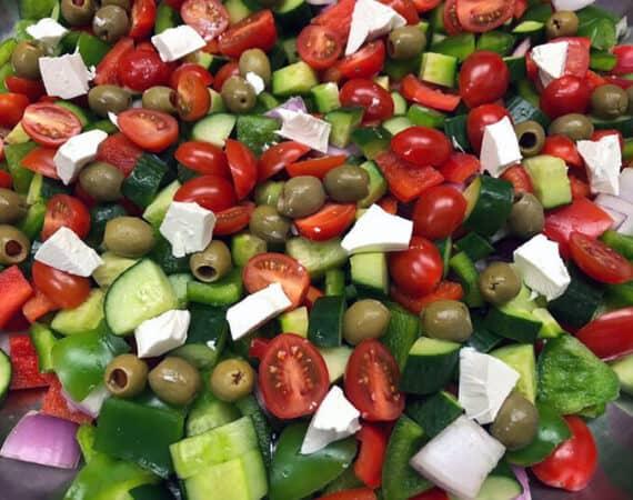 Greek salad - TwinBridges Restaurant and Catering