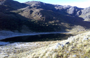 Durante algunas épocas hay nieve en estas lagunas