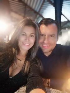 Sandra Moreno y Roger Valencia.