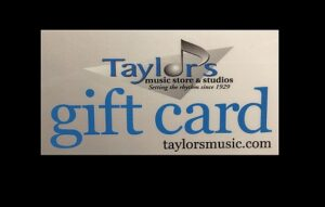 taylor's gift card