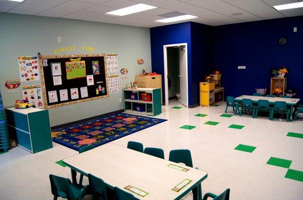 Blue classroom at The Nest Academy Learning preschool in Alexandria VA