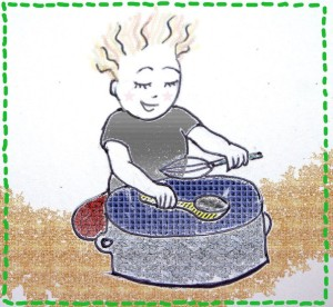 boy playing on the pot