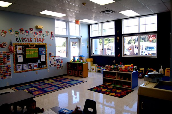 toddler room at daycare