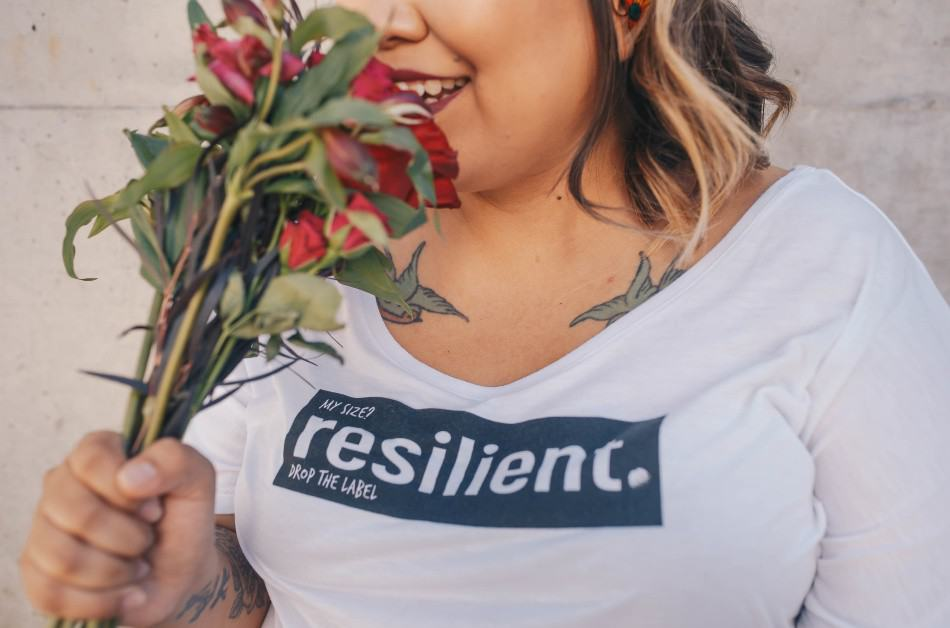 plus size women who uses self love exercises to increase her self worth