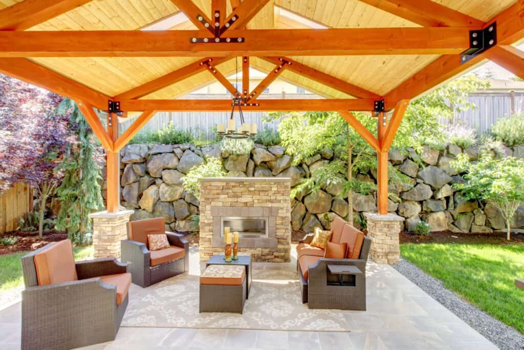big and tall patio furniture under awning