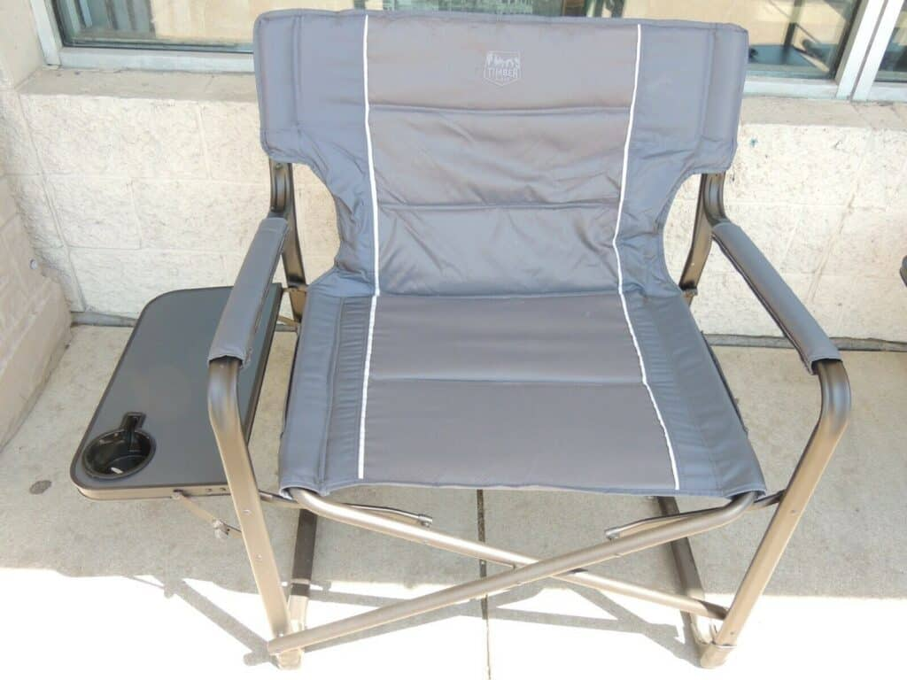 timber ridge xxl director's chair front view