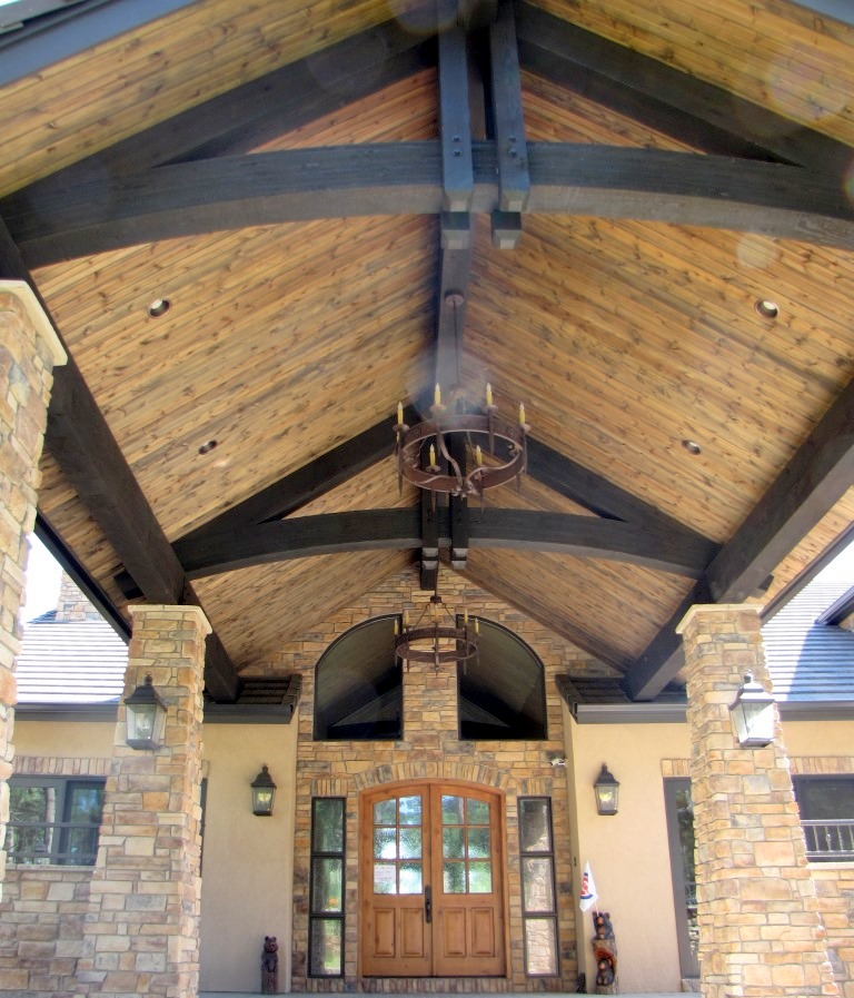 Walkway Timber Decorative Trusses