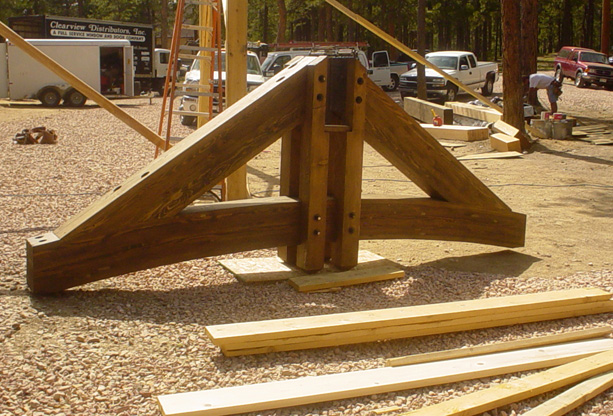 Timber Trusses Staining