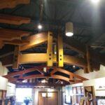 Timber Truss Display at Coutura