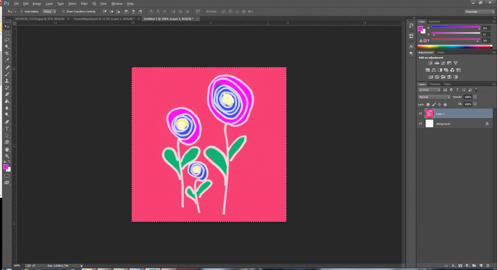 Define your seamless pattern in Photoshop