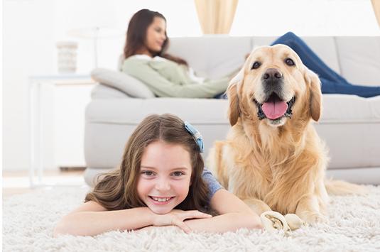 girl-and-dog