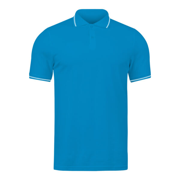 Ruffty Electric Blue Collar Neck T-shirt With White Tipping